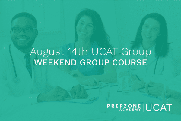 UCAT Weekend Group Course Schedule - August 14th, 2021